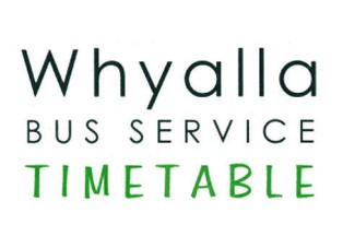 Whyalla Bus Service Timetable